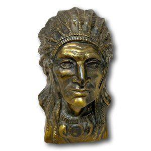 Bronze Native American Indian Chief Statue